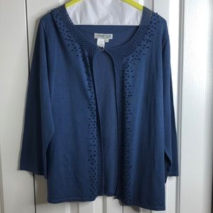 3/$15 Coldwater Creek size M silk blend cardigan